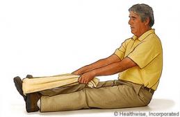 Exercise avec la serviette